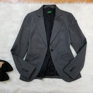 Benetton Blazer Suit Jacket Fitted Tailored Look